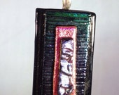 Fused Dichroic Textured Glass Pendant