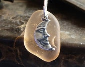 Sea Glass Jewelry Moon of my dreams Sea Glass Necklace