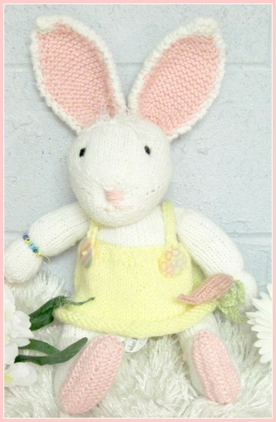 Beatrice Bunny Panties  Dress and Carrot Pacifier  Pattern   Knitted
