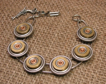 Shotgun Casing Jewelry - Bullet Jewelry - 410 Gauge Shotgun Casing Bracelet - Gun Jewelry - Girls with Guns - Hunting Related - Skeet, Trap