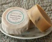 Shampoo Soap Rosemary Mint handmade Cold-Process Round Bar