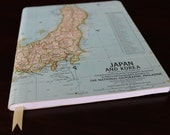 Vintage Japan Map Journal- READY TO SHIP