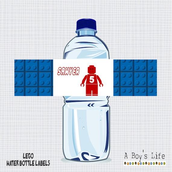 LEGO Water Bottle Labels Printable PDF