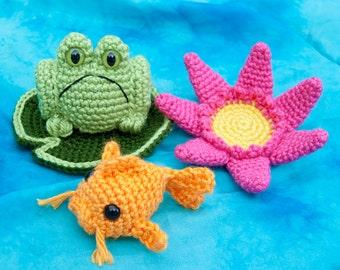 PDF Crochet Pattern - Pond Play Set