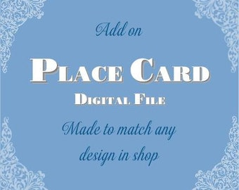 Place Card - Printable Digital File