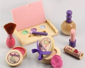 Pretend Wooden Makeup and Cosmetics Set