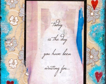 """Today is the Day - 5""""x7"""" Blank Wedding Card with Envelope, Wedding Cards, Card for Brides, Wedding Stationery, Wholesale Greeting Cards"""