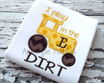 Machine Embroidery Design Applique Tractor Dirt INSTANT DOWNLOAD