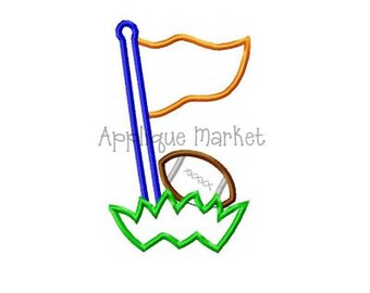 Machine Embroidery Design Applique Football Pennant Grass INSTANT DOWNLOAD