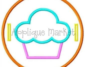Machine Embroidery Design Applique In The Hoop Cupcake Label INSTANT DOWNLOAD