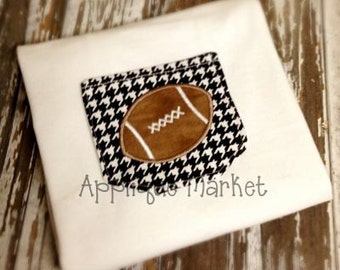 Machine Embroidery Design Applique In the Hoop Pocket with Football INSTANT DOWNLOAD
