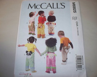 New McCall's Toddlers' Pants Pattern M6825 (Free US Shipping)