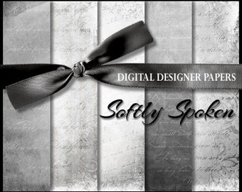 Digital Papers - SOFTLY SPOKEN - 12x12 Expertly Designed Photography and Scrapbook Backdrops.