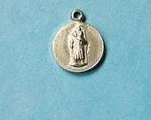 1 VERY small Saint Christopher medallion, silver tone, 13mm