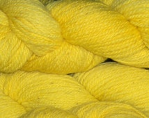 Worsted Weight Wool Yarn, Yellow.  Fantastic for Felting!!!!  Hats, Slippers,  150 Yards, 2 Ounce Per Skein