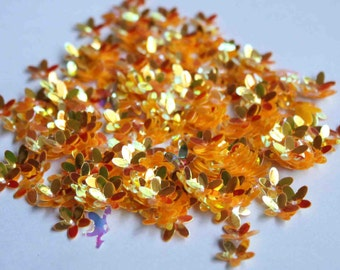 100 Orange color flower shape sequins/KBSF443