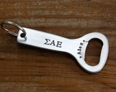 Sigma Alpha Epsilon Bottle Opener - Fraternity, Greek Custom Key Chain, Big Brother, Little Brother Gift, SAE, OFFICIALLY Licensed Product