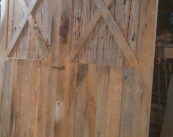 YOUR Reclaimed Barnwood Double Door Door FREE SHIPPING - BWDD1400F
