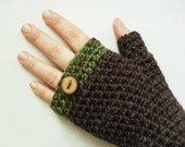 Hemp Wool Fingerless Mitts gloves arm warmers Forest Dweller Woodland Fantasy Autumn Fall Winter Fashion Made to Order
