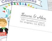 Custom modern script return address stamp--103TS or 103SI