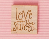 Art stamp--Love is sweet with hearts and arrows
