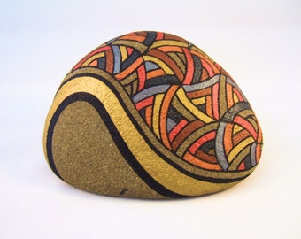 Original Unique Collectible Art Painted Rock 3D Artwork Rustic Decor Cool Art Gift for Her Home Decor Unique Gift for Him Office Decor