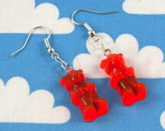 Gummy Bear Earrings Orange