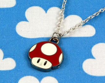 Red Mario Super Mushroom Necklace