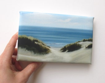 sand dunes at the beach, mini canvas art print