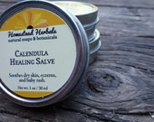 Calendula Healing Salve / Baby Salve Diaper/ Salve organic 1 oz Travel Tin