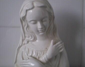Vintage Rubens Madonna Virgin Mary Vase Planter