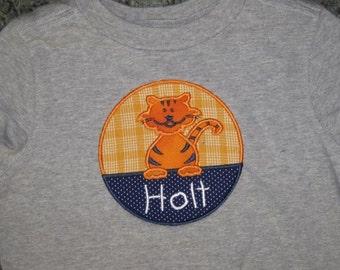 Tiger School Custom Personalized Shirt Girls Boys