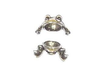 Pewter Frog Bead Caps 8mm (1 pair)