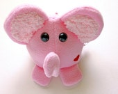 Pink Elephant - Stuffed Animal - Plushie - Toddler Toy