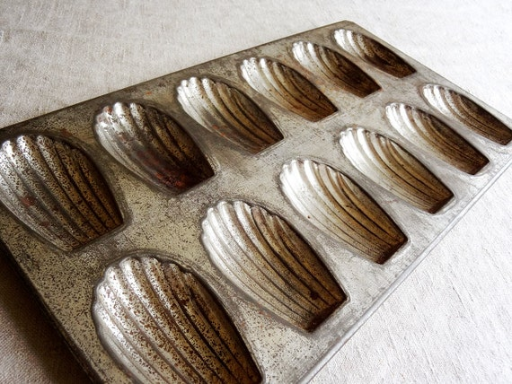 Vintage Madeleine Pan Cookie Mold Made In France Great Aged