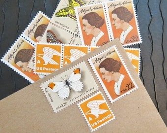 Butterflies.. Wings .. UNused Vintage Postage Stamps  .. post 5 letters
