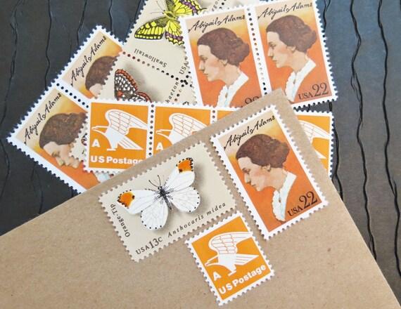 Butterflies.. Wings .. UNused Vintage Postage Stamps  .. post 5 letters