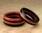 Ebony Ivory Ring Set