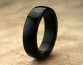 Custom Ebony Wood Ring - 6mm