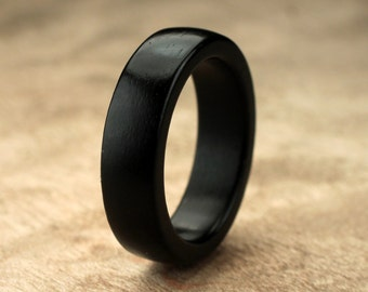 Custom Ebony Wood Ring - 6mm