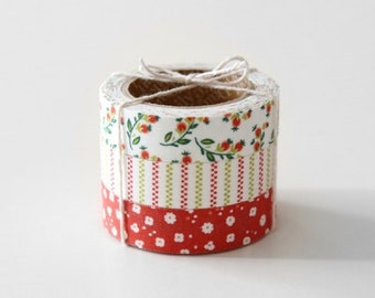 Nuage Fabric Masking Tape - Strawberry - Set 3