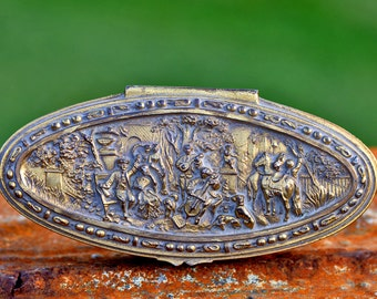 vintage casket metal jewelry box...  Laf T 11