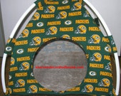 Large Handmade Green Bay Packers Pup Tent Pet Bed For Cats / Dogs / Ferrets / Piggies Or Used For A Toy Box / Barbie Doll House