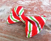 Boys Bow Tie - Green and Red Candy Cane Bow Tie - Bow Tie - Bow Ties Toddler - Newborn Bow Tie - Christmas Bow Tie - Red Bow Tie