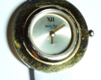 Vintage VANITY FAIR  Ladies WRIST Watch White gen leather band Modernist design On Clearance Now