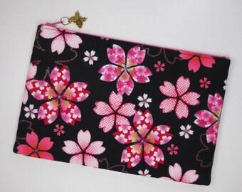 Sakura iPad mini Case/ Zipper Pouch/ Clutch Bag