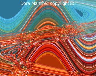 WIND - Original Digital Art by Dora Martinez