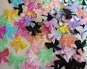 20 mini iridescent bow mix of colors appliques embellishments EM-280