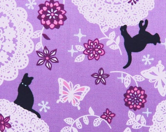 2366C - Kitty Playground -- Flower Lace Print in Middle Orchid