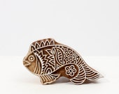 Hand Carved Stamp fish 209